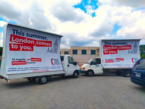 camion vela pubblicitaria noleggio agenzia comunicazione marketing street vicenza padova