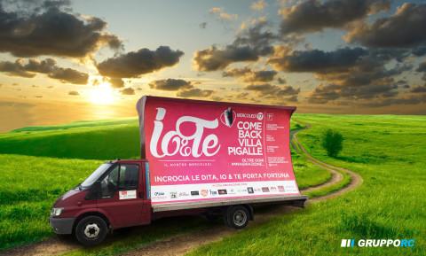 noleggio camion vela vicenza pubblicita poster furgone