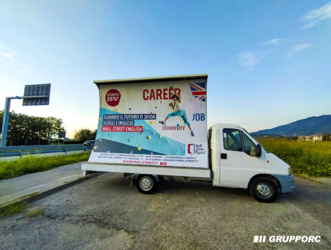 noleggio camion vela pubblicitaria vicenza verona padova pubblicita affissioni